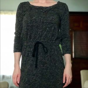 •NWOT•LOFT•Sweater Dress•Black/Gray•XS•••123